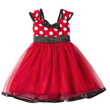 [13698] Halloween Minnie Mouse Gauze Kids Costume Dress
