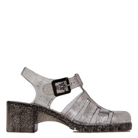 Gladiator Thick Heel Jelly Smoke Glitter Sandals