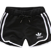 "[ On Sale ] Adidas "" Like Fashion Print Exercise Fitness Gym Yoga Running Shorts"