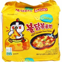 Samyang Spicy Chicken Cheese Ramen 5 - 4.9 oz. packs (140g)