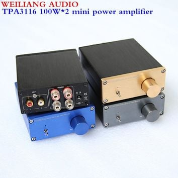 Breeze audio & Weiliang audio HiFi Class D Audio Digital Power Amplifier TPA3116 2.0 min amplifier 100W*2  NE5532P*1/ TPA3116*2