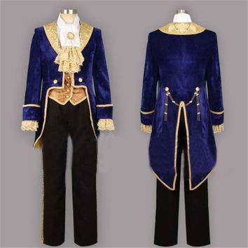 Beauty and the Beast Prince Tuxedo Cosplay Costume Custom Made