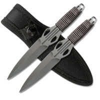 Set of 2 Throwing Knives w/ Nylon Sheath