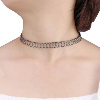 Chain Coiled Choker Necklace