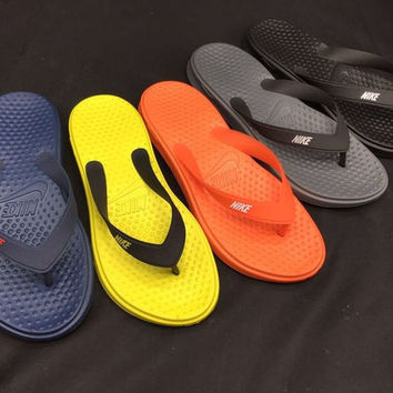 Nike Men And Women Casual Flats Sandals Slipper Shoes