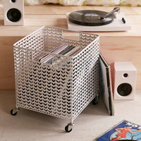 Rolling Record Storage Bin | Urban Outfitters