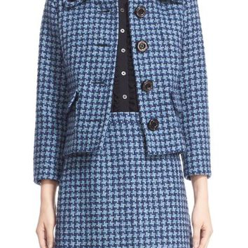 Michael Kors Houndstooth Tweed Jacket | Nordstrom