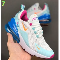 Nike Air Max 270 Breathable half-palm air cushion jogging shoes