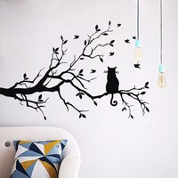 Cat On A Branch Wall Decor