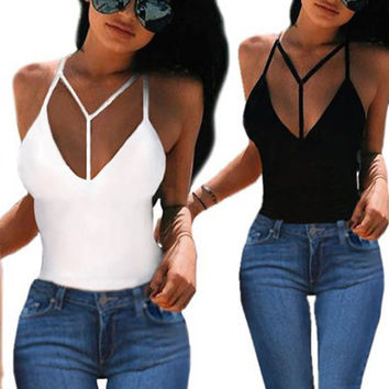 womens sexy tops 2017 camiseta tirantes mujer club top femme sexy solid fitness tank top women vest halter neck Crop Tops