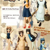 "Toy's Planning Nekomimi Zu Cat Ear 6 4"" Pvc Trading Collection Figure Set"