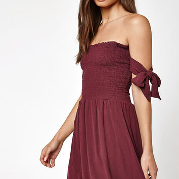 Kendall & Kylie Off-The-Shoulder Tulip Tie Strap Dress at PacSun.com