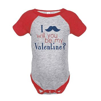 Custom Party Shop Baby Boy's Be My Mustache Onepiece