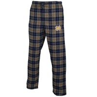 Notre Dame Fighting Irish Roster Flannel Pants - Navy Blue/Gold
