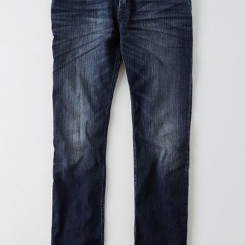 AEO Men's Slim Straight Core Flex Jean (Dark Indigo Wash)