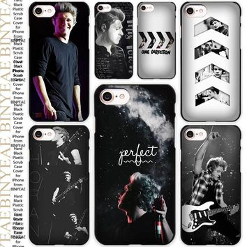 Niall Horan One Direction Black Scrub Case Cover Shell for iPhone Apple 4 4s 5 5s SE 5c 6 6s 7 Plus