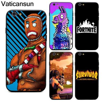 battle royale fortnite phone cases TPU+PC Black covers for iPhone X 6 7 8 plus 5 5s 6s se for Apple X best diy case