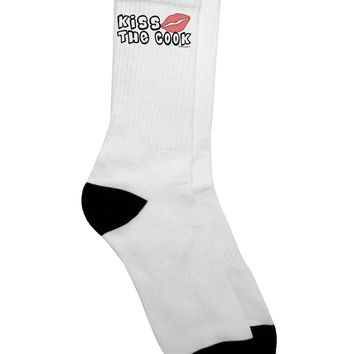 Kiss the Cook With Lips Adult Crew Socks - by TooLoud