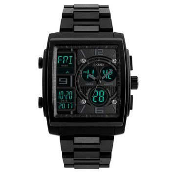 Mens Sport Watch Digital Military Wrist watch Square Analog Quartz Watches Electronic LED Watch