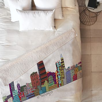 Brian Buckley Chicago City Fleece Throw Blanket
