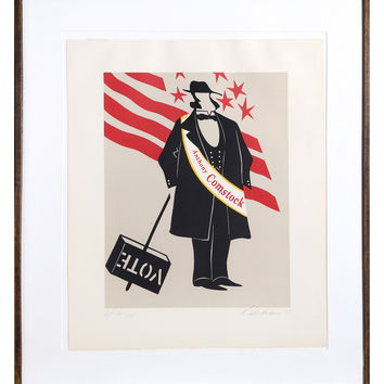 RoGallery Anthony Comstock by Robert Indiana (Lithograph)