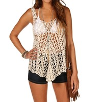 Sale Open Crochet Top