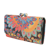Peacock Cutout Wallet