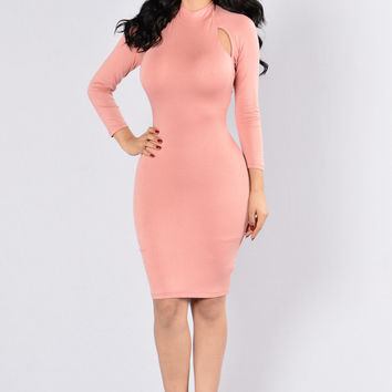 I'm Sprung Dress - Cinnamon