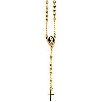 Gold Tone  Rosary 18Kts of Gold Plated