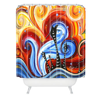 Madart Inc. Little Village Shower Curtain