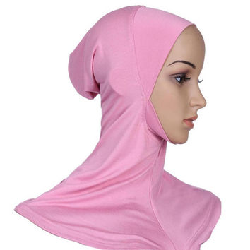 Full Cover Plain Hat Cap Headwear Inner Neck Chest Bonnet Hijab Underscarf New PY3 SM6