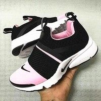 NIKE contrast Trending Fashion Casual Sports Shoes pink -white soles