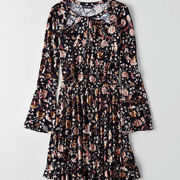 AEO Keyhole Cutout Dress, Multi