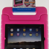 iPad 2 3 4 Tech & Go Bump Case Pink Protect Impact Handle Stand Carry Sturdy NEW