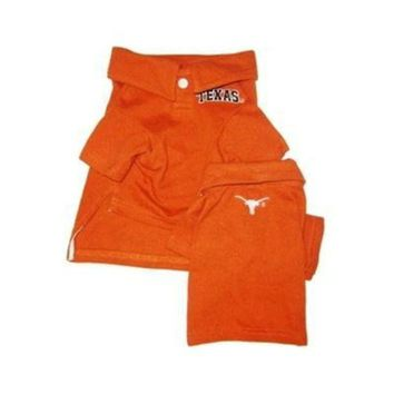 PEAPON Texas Longhorns Dog Polo Shirt