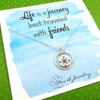 2 Style New Silver Plated Unique Compass Necklace Jewelry for Women Fashion Exquisite Circle Pendants & Necklace Beautiful Gift