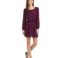 Sequin Hearts Long-Sleeve Bold Chevron Dress | Dillard's Mobile