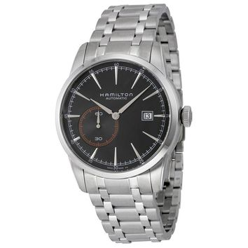 Hamilton Railroad Automatic Black Dial Stainless Steel Mens Watch H40515131