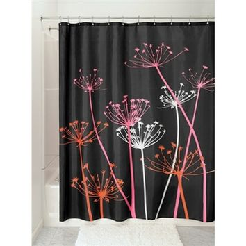 Thistle Black Shower Curtain Cool College Stuff Dorm Room Shopping Essential
