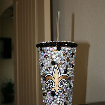 New Orleans SAINTS Bling Tumbler