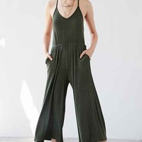 Silence + Noise Ribbed Knit Culotte Jumpsuit