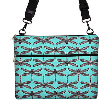 Messenger Laptop Bag Laptop Sleeve Laptop Case Dragonfly Turquoise - Many Sizes: 15 PC / 13, 15 ,17 MacBook Pro / 13 Air / 13, 15 Retina
