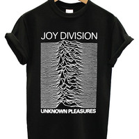 Hot Joy Division Unknown Pleasures Printed Logo Men Cotton T Shirt - JY02
