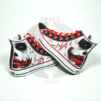The Joker Black to Red Adult / Youth Hand Painted by OddlyIndie