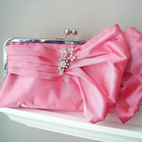 Jasmine Bridal Double-Bow Clutch In.. on Luulla