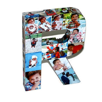 3D Picture Frame Photo letter collage Gift, Children's, College Dorm Room Wedding Birthday Initial Personalized Monogram Best Friends Mom