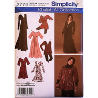 Misses Knit Dress Tunic Simplicity 2774 Sewing Pattern Size 10-18 c1643