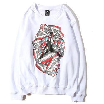 Jordan autumn and winter men and women with casual long-sleeved crew neck sweater