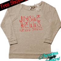 JiNgLe BeLLs and JeLLo SHotS. Christmas Sweatshirt. Funny Christmas Sweatshirt. Alcohol Shirt. XMAS. Holiday. Free Shipping USA