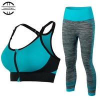 New Women Sports Clothing Yoga Sets Sport Bra Yoga Leggins Female Sport Tights Running Gym Sport Suit Fitness Clothes Yoga Sets